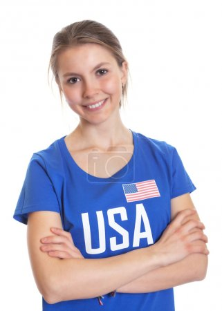 American woman with crossed arms