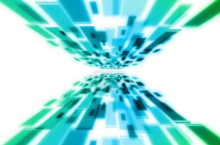Foto de Fondo abstracto azul y verde - Imagen libre de derechos