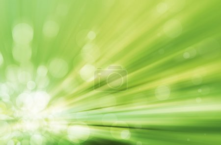 Light bokeh with speed lines background