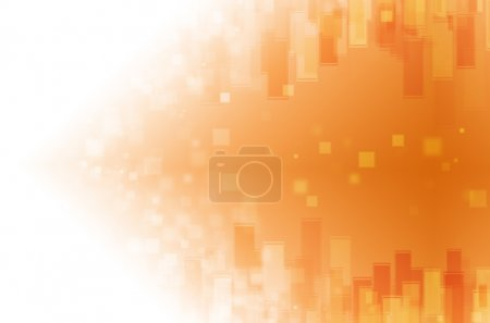 Photo for Orange tech with square background - Royalty Free Image