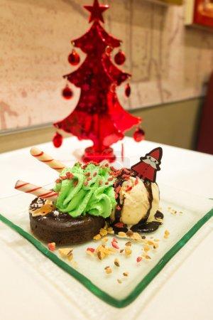Christmas Chocolate lava cake and ice cream