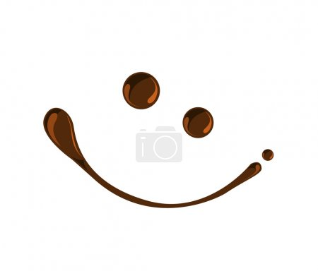 Illustration for Chocolate smile chocolate syrup symbols vector - Royalty Free Image