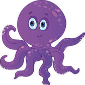 Сute cartoon octopus