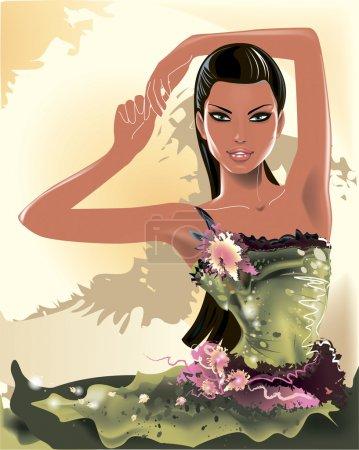 Beautiful fashion girl model