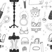 Women accessories seamless pattern
