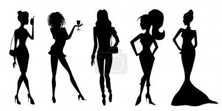 Elegant women silhouettes