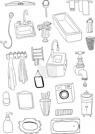 Illustration for Bathroom objects - Royalty Free Image