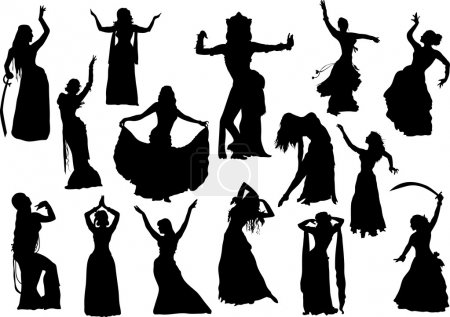 Belly dance silhouettes