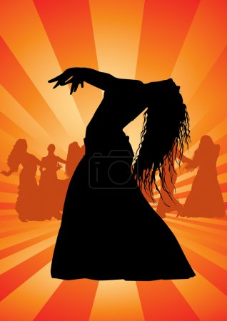 Belly dance silhouette