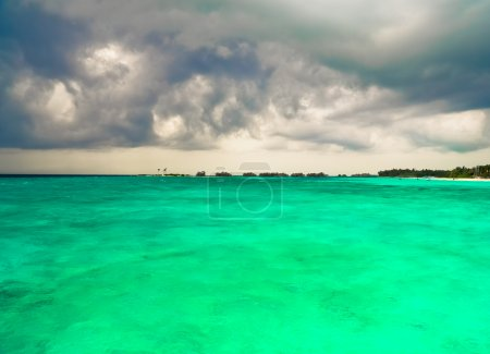 Photo for Stormy clouds at Maldives - Royalty Free Image