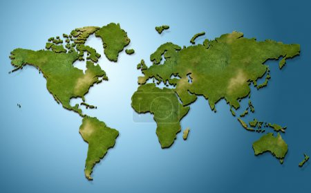 Photo for Illustration of colorful 3D world map - Royalty Free Image