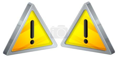 Illustration pour Attention AVERTISSEMENT DANGER signe avec le symbole de point d'exclamation - image libre de droit