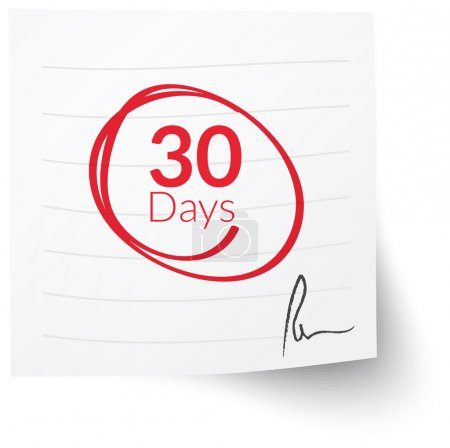Deadline Note 30 Days...