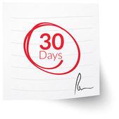Deadline Note 30 Days