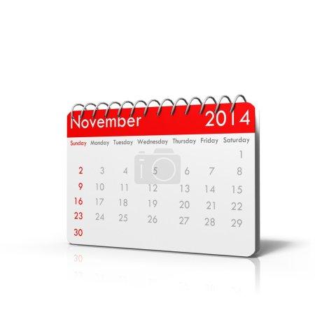 3D calendar November 2014