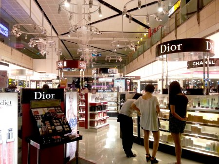 cosmetic duty free at airport