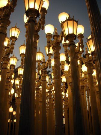 LACMA, Los Angeles County Museum of Art lamps installation art