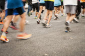marathon start, shoes runner