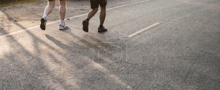 Photo for Marathon runner in the morning - Royalty Free Image