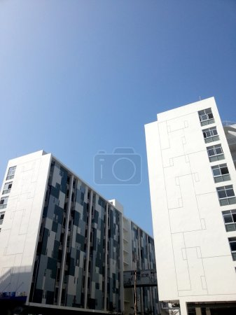 Photo for White modern apartment exterior perspective - Royalty Free Image