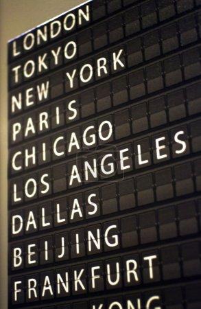 Airport flip board