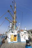 Ruská plachetnici mir doky v Řecku