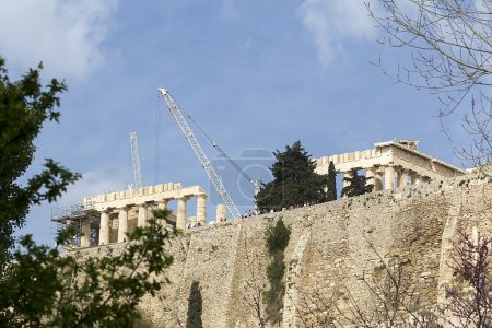 Photo for Ancient temple Parthenon in Acropolis Athens Greece - Royalty Free Image