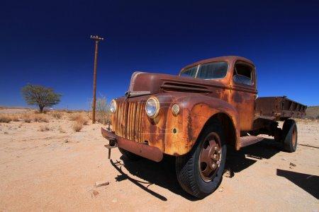 Old car in the desert