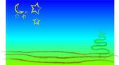 Sun landscape paint