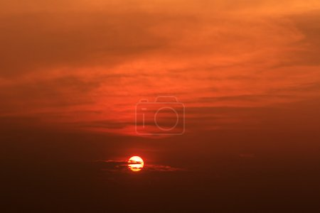Photo for Red sunset sky - Royalty Free Image