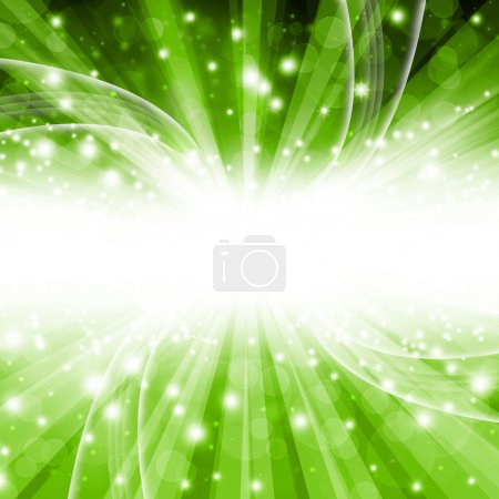 Green  background bokeh with stars