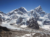 Mount Everest, Nuptse and the Khumbu Icefall Seen from Kala Patthar in Nepal