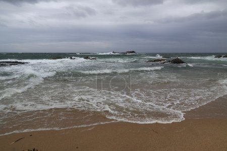 Photo for Beautiful seaside of the north of Portugal in an overcast morning - Royalty Free Image