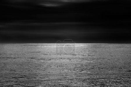 Glistening sea horizon