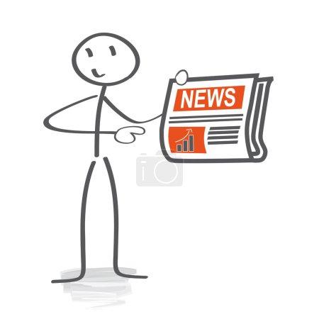 Illustration pour Actualités, dernières nouvelles, - image libre de droit