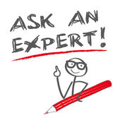 Ask an expert vector illustration with copy space