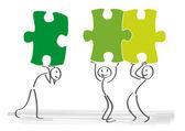 Puzzle synergy Teamwork