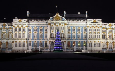 Catherine Palace in Pushkin at Night Time