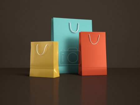 Photo for Shopping bags on a black background - Royalty Free Image