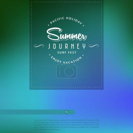 Vector summer poster.