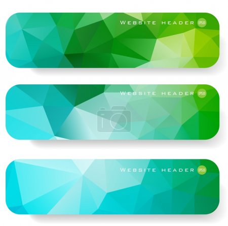 Set of abstract banner