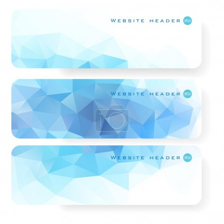 Abstract vector Website header or banner set