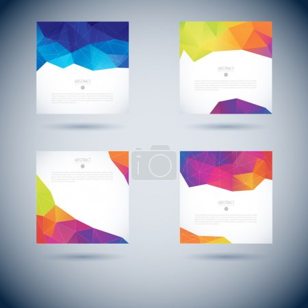 Illustration for Set of Abstract 3D geometric colorful vector background - Royalty Free Image