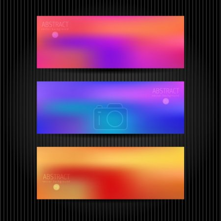 Vector vebsite header or banner set