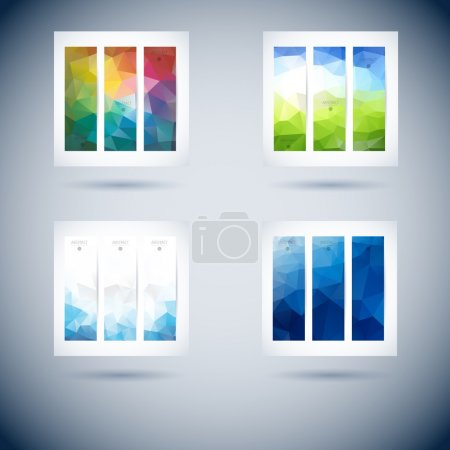 Set of abstract vector vertical banner