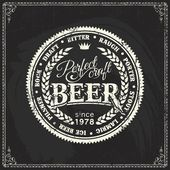 Retro styled label of beer or brewery on a blackboard Good as a template of advertisement