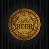Retro styled label of beer Good as a template of advertisement Editable layered vector