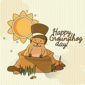 Groundhog day's card