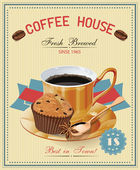 Coffee cup Muffin Vector French cafe