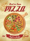 Pizza Menu Template, vector illustration.
